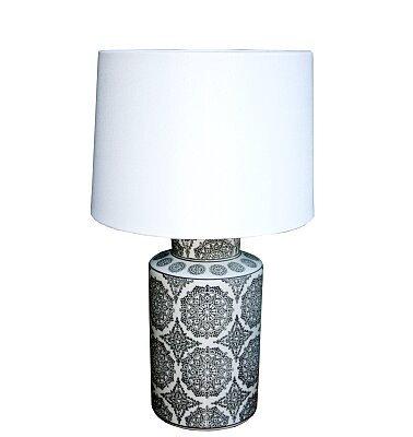 Retro style Black Mandala Lamp - 50.8 or 63.5cm high