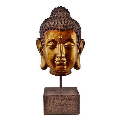 Ornamental Buddha Head on Stand - 35cm.