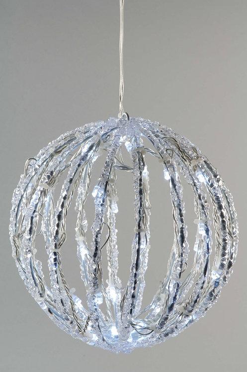 LED Cool White Acrylic Ball Light 20cm