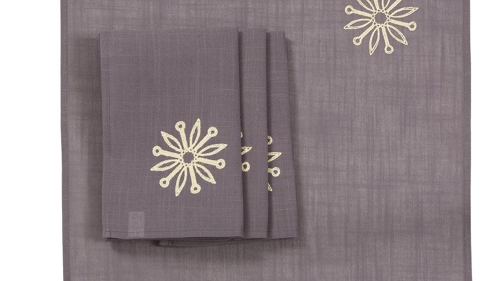 Sparkling Snowflakes 20''x20'' Napkins, Set of 4