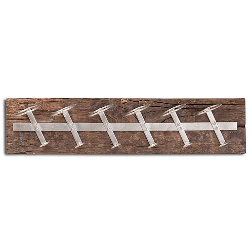 Wall Mounted Reclaimed Timber Bottle Wine Racks - Hill Interiors