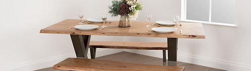 Live Edge Collection Large Round Dining Table Lifestyle