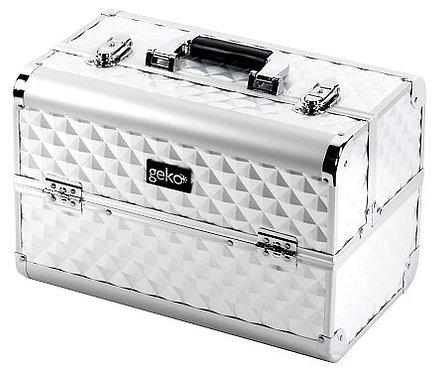 Geko Vanity Case / Makeup Box Heavy Duty Silver
