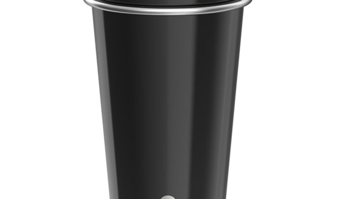 Bevu® FIESTA Steel Cups (2) Black 470ml / 16oz.