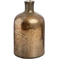 Rose Gold Metallic Lustre Glass Bottle Vase