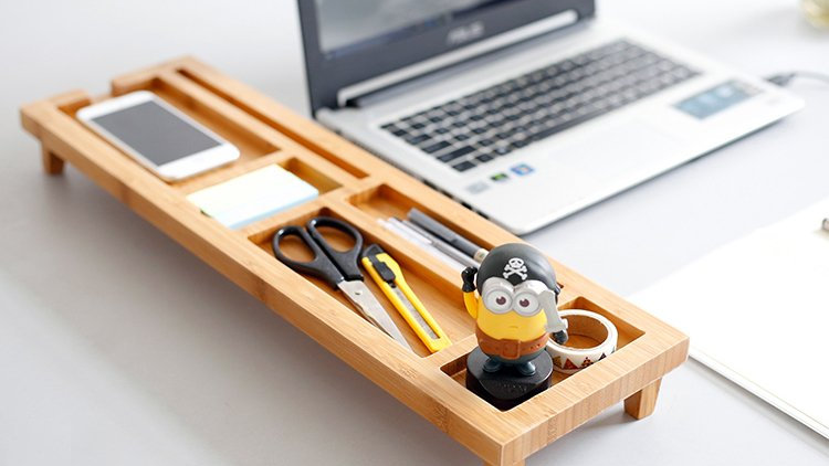 Bamboo Multifunction Desktop Organizer