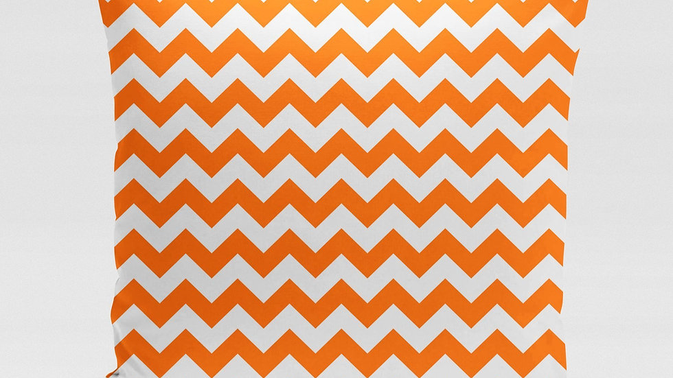 Orange ZigZag Pillow Cover