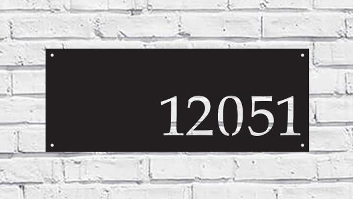 Metal House Address Sign - Horizontal Style 1