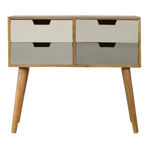 Grey and White Gradient Console Table