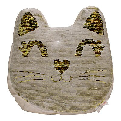 Sequin Cat Cushion