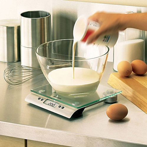 Salter Classic Aquatronic Kitchen Scale in use