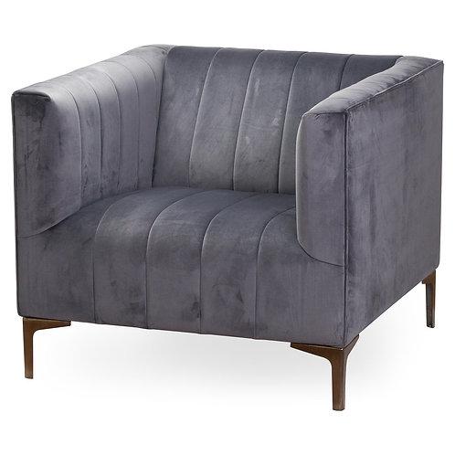 Hill Interiors Emperor Grey Velvet Arm Chair