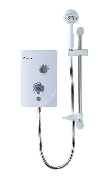 MX Duo Q| White Chrome Electric Shower 9.5KW
