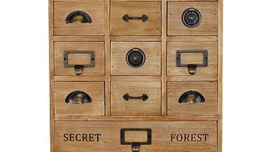 14 Drawer Apothecary  Style Storage Unit, -Trinket Drawers