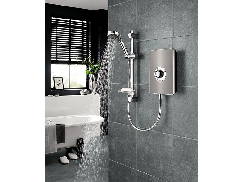 Triton Collection 11 9.5kw Shower - in Gun Metal or Gloss Black