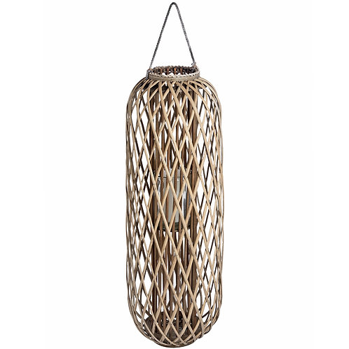 Huge 110cm Standing Wicker Lantern