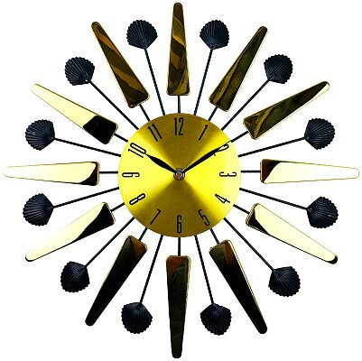 Gold Mirrored Effect Wall Clock - 39cm