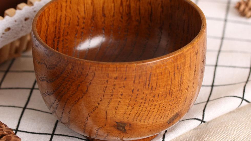 Natural Round Wood Bowls
