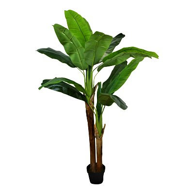 Artificial Banana Tree  with 2 Stems - 160cm tall