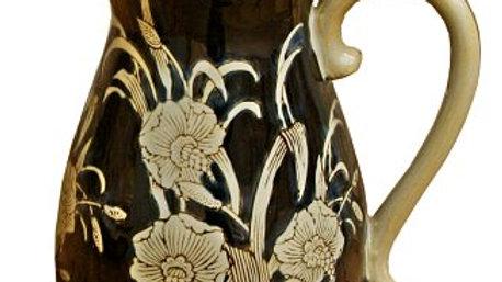 Ceramic Embossed Jug Style Vase - Regal Design