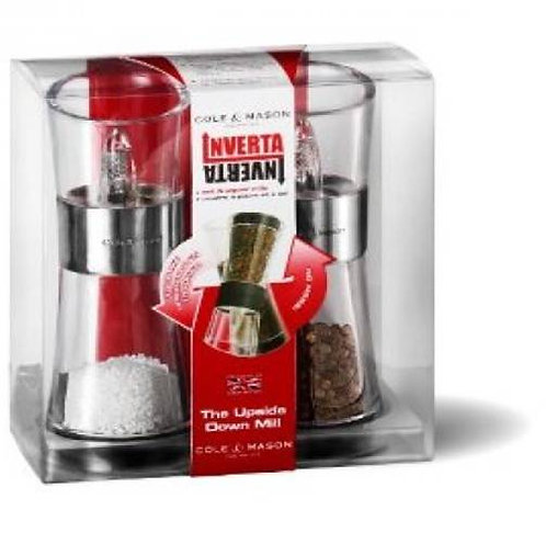 Cole and Mason Flip Inverta Salt and Pepper Mill Set