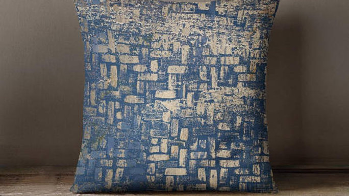 Blue Pattern Throw Pillow Cover Decorative Pillow