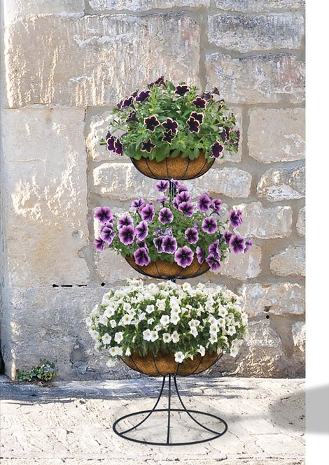 3 Tier Fountain Planter with Coco Liner by Ambassador