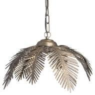 Large Antique Bronze Palm Ceiling Pendant detail