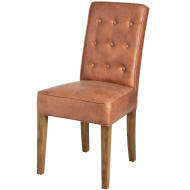 Tan Faux Leather Dining Chair (each)