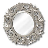 Large Baroque Circular Mirror