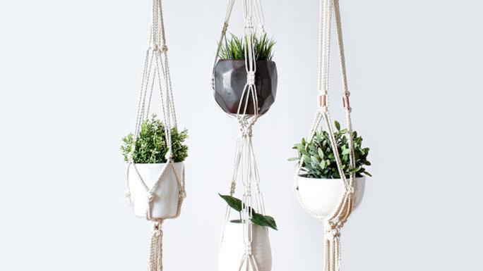 Plant Hanger, Macrame Plant Holder