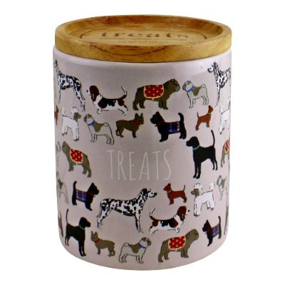 Ceramic Pet Treat Jar With Lid