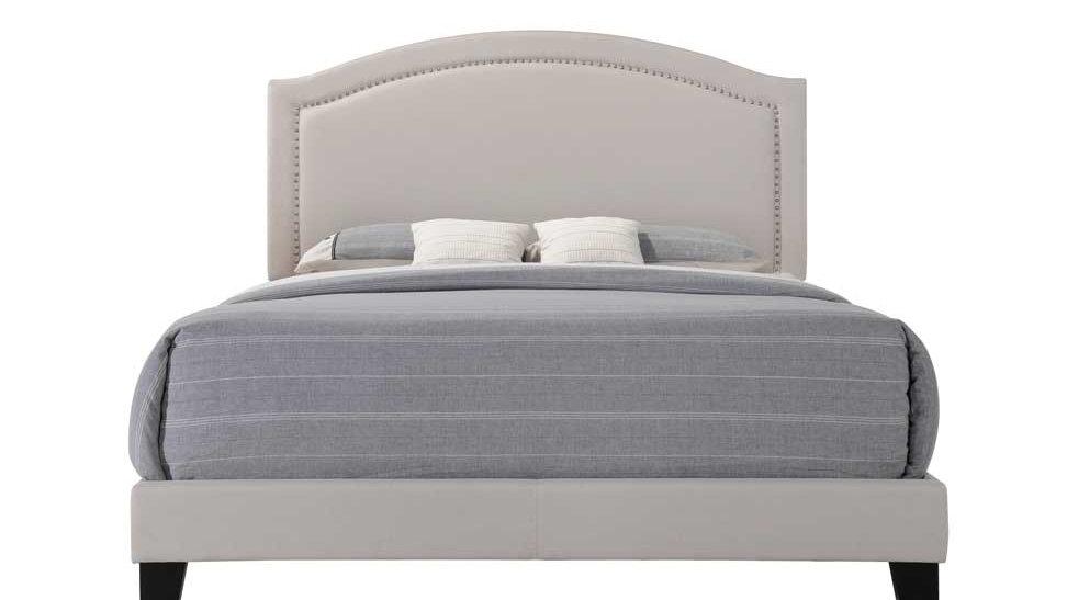 "83"" X 64"" X 50"" Queen Fog Fabric Bed"
