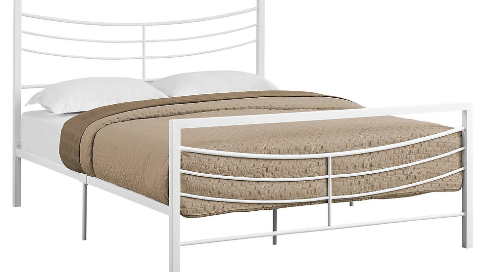 White, Metal - Queen Size Bed