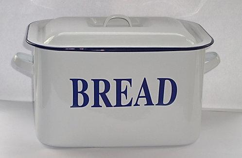 Falcon White Enamel Oblong Bread Bin - Mini