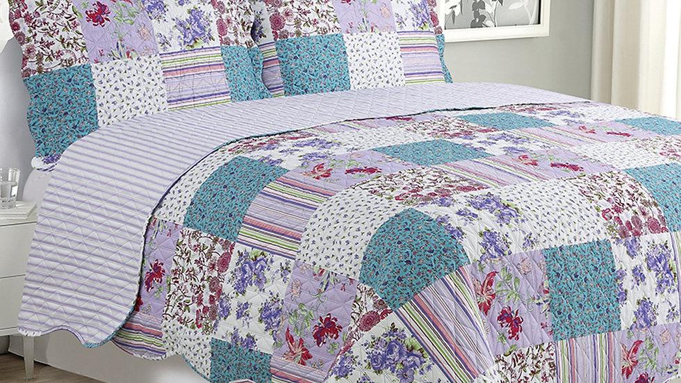 Kim - 3 Piece Quilt Set - Purple