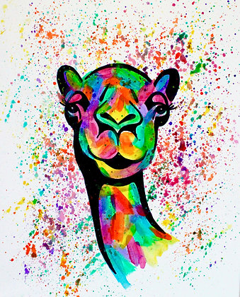 Camel Canvas Painting (Paint at Home Package)