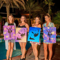 Design & Dine - Hen Party / Paint & Wine Private Party - Dubai / Abu Dhabi / Al Ain