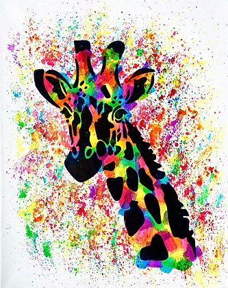 Giraffe Canvas Painting (Paint at Home Package)
