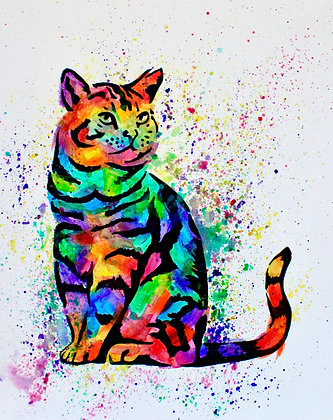 Cat Canvas Painting (Paint at Home Package)