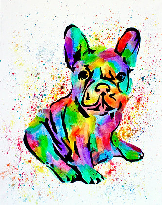 Frenchie Canvas Painting (Paint at Home Package)