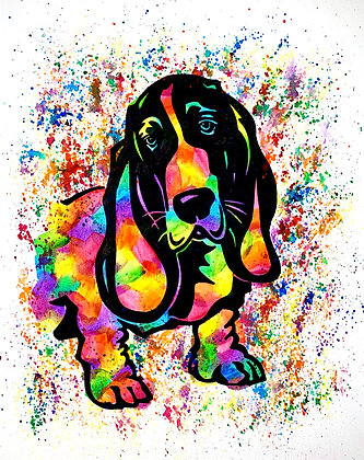 Basset Hound Canvas Painting (Paint at Home Package)