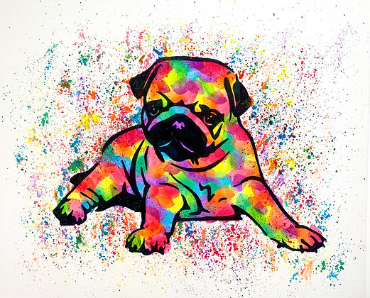 Pug Canvas Painting (Paint at Home Package)