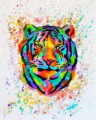 Tiger Canvas Painting (Paint at Home Package)