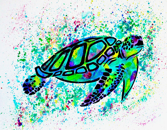 Turtle Canvas Painting (Paint at Home Package)
