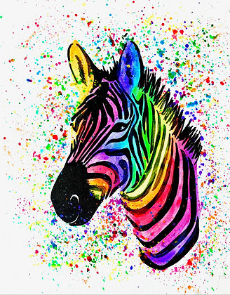 Zebra Canvas Painting (Paint at Home Package)