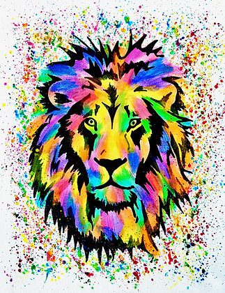Lion Canvas Painting (Paint at Home Package)
