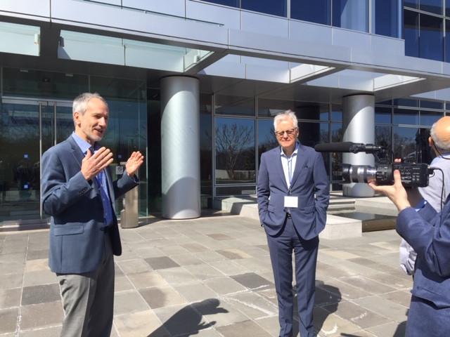 John Lipman (Vastu Architect) and Jeffrey Abramson (Developer) giving us details about the features of this remarkable building
