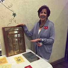 Bev Rigney with plaque_edited