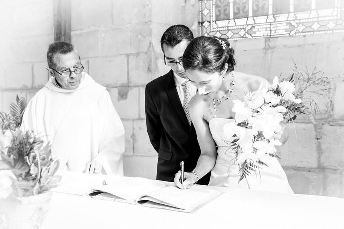 Les cérémonie religieuse et laïque.